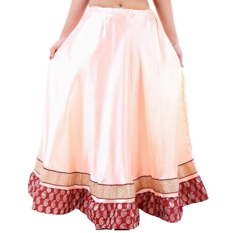 Buy Vivan Creation Shree Mangalam Mart Designer Satin Long Lehenga Free Size (product Code - Smskt751) online