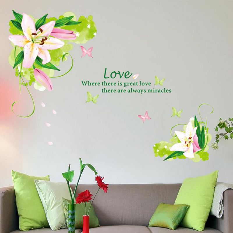 Wall Sticker (Summer vine flower,Wall Covering Area 33 x 22 Inch) -