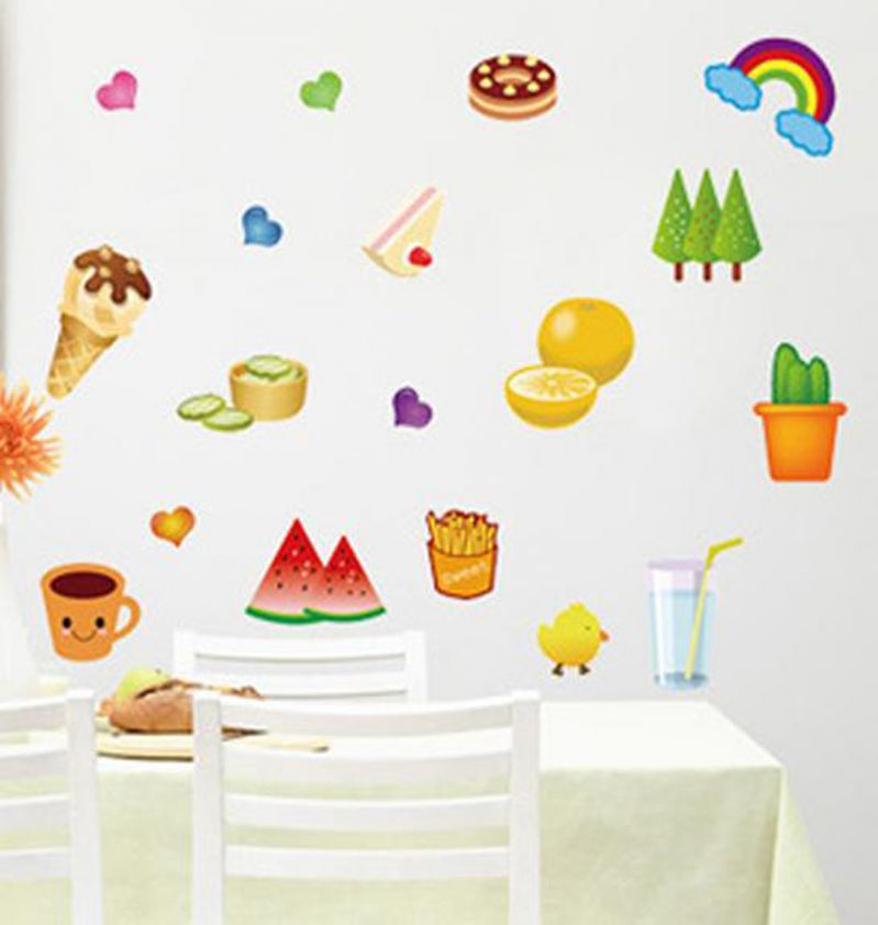 Buy Decals Arts Fruit Wall Sticker For Kids online