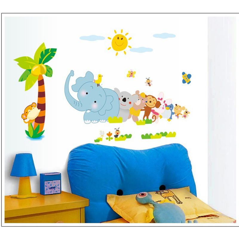 Buy Decals Arts Third Generation Animals Wall Sticker For Kids Online