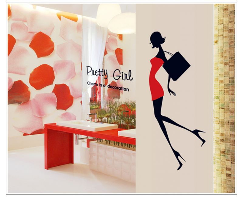 Buy Decals Arts Heels Beauty Preety Gril Wall Sticker online