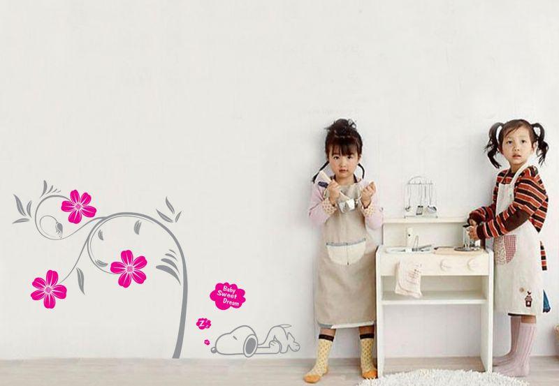 Buy Decals Arts Pink Blossom Wall Sticker online