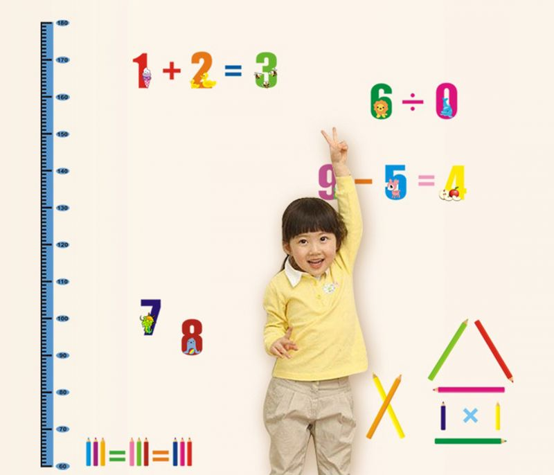 Buy Decals Arts Kids Maths Learning Wall Sticker online
