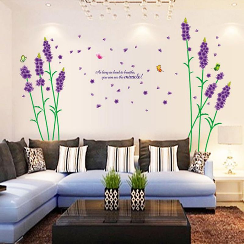 Buy Decals Arts D Beautiful Purple Lavender Wall Stickers Online - Wall decals online india