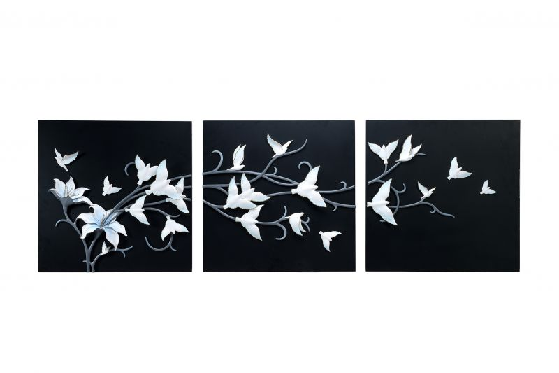 Buy Decals Arts Hand Painted White Birds On A Branch 3d Embossed Painting online