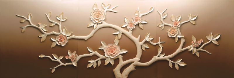 Buy Decals Arts Hand Painted Tree In Autumn 3d Embossed Painting online