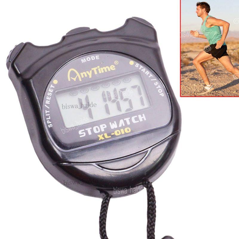Digital Stop Watch Date Time Timer Stopwatch Step Walk Running Counter  Sports