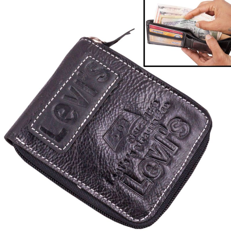 0ad781d593ab Buy Mens Gents Leather Wallet Credit Business Card Holder Case Money Bag  Purse Black-04