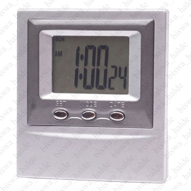 Digital LCD Table Car Dashboard Alarm Clock LCD Stop Watch Timer Time Date  - 60