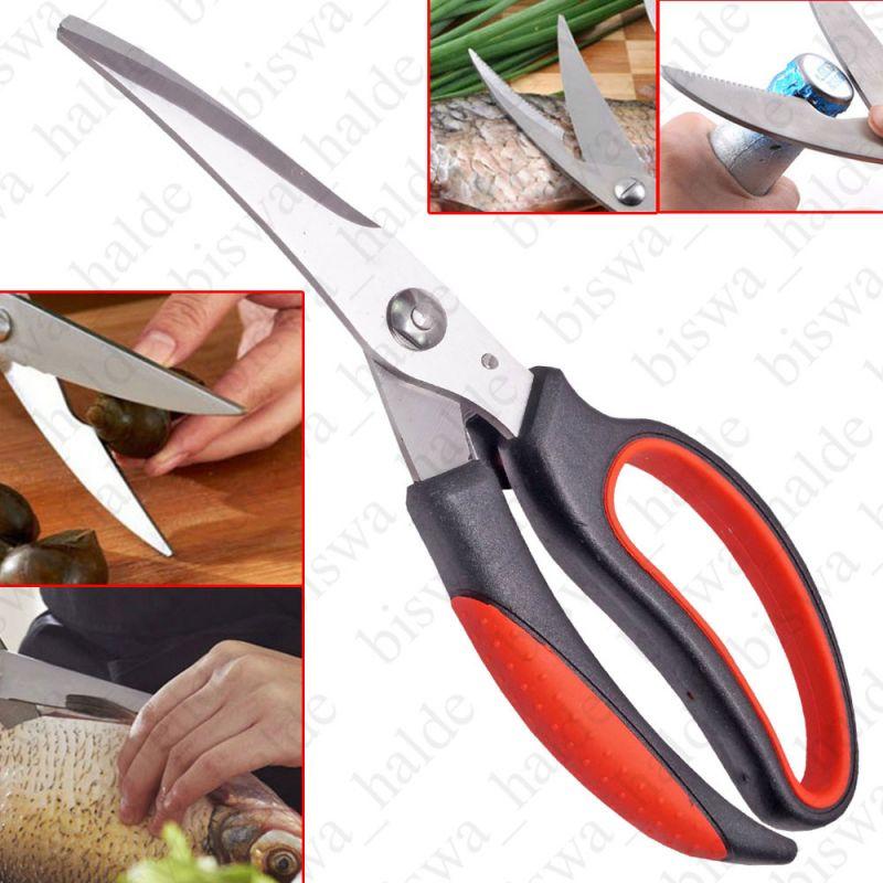 Buy Multifunction Stainless Steel Kitchen Scissors Poultry Shears Professional Heavy Duty Poultry Shears Fish Chicken Bone Scissors-09 online