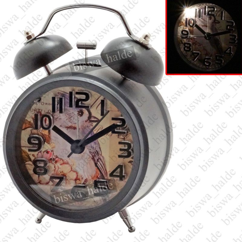 Buy Exclusive Night Light Analog Gift Table Wall Desk Self Clock Watch With Alarm-82 online