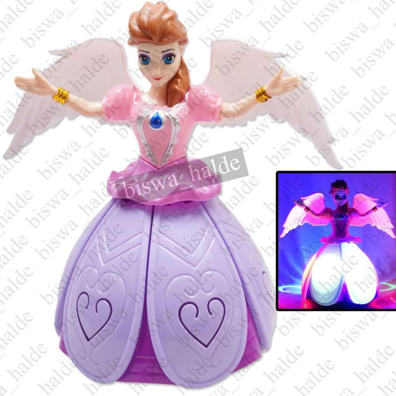 Buy Dancing Princess Robbot With Music And 3d Lights & Sound Kids Baby Girls Gift Toy Battery Operated -10 online