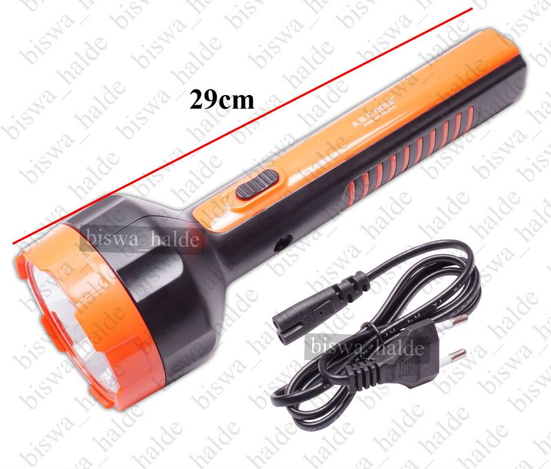 Buy 5w A.b.c Gold High Power Long Beam LED Bright White 2 Mode Rechargeable Emergency Torch Light Night Lamp-26 online