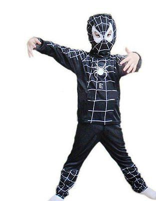 Buy Spiderman Black Small Costume Fancy Dress & Face Mask For Kids (3 -6 Years) online