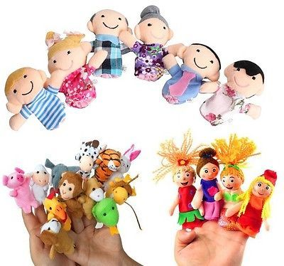 Buy Finger Puppets Combo 4 PCs Little Mermaid, 6 Family & 12 PCs Animals With T online