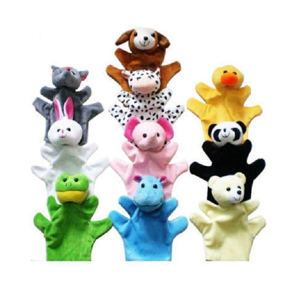 Buy Kuhu Creation Hand Puppets Multicolor - Set Of 10 Pieces online