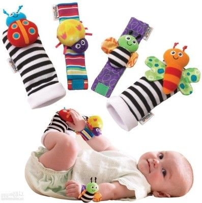 Buy Kuhu Creation Baby Rattle Toys Garden Bug Wrist Rattle online