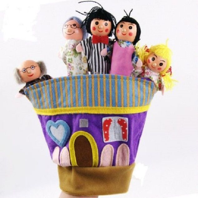 Buy Kuhu Creation Family Finger Puppet Multicolor - Set Of 5 online