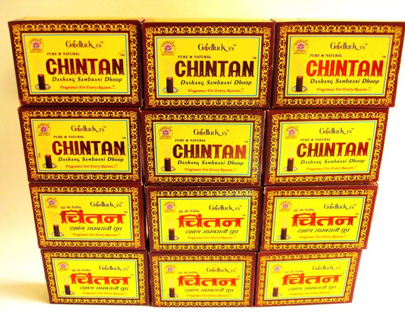 Buy Dhoop - Chintan Dashang Sambrani Highly Soothing - (set Of 12 Packets/24 Sticks In A Packet) online