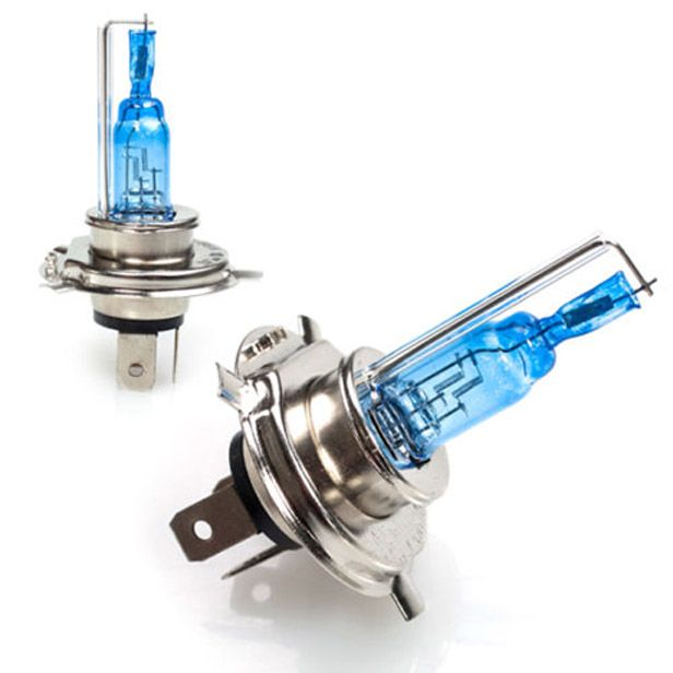 Buy Spidy Moto Xenon Hid Type Halogen White Light Bulbs H4 - Mahindra Scooter Rodeo Rz online