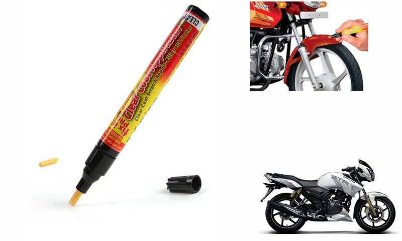 Buy Spidy Moto Auto Smart Coat Paint Scratch Repair Remover Touch Up Pen For Tvs Apache Rtr 180 Abs online