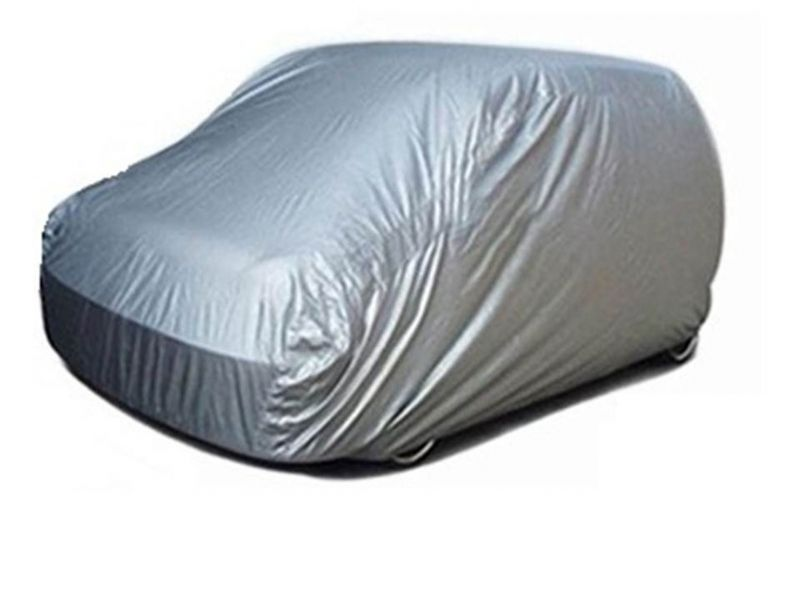 Buy Spidy Moto Elegant Steel Grey Color With Mirror Pocket Car Body Cover Renault Pulse online