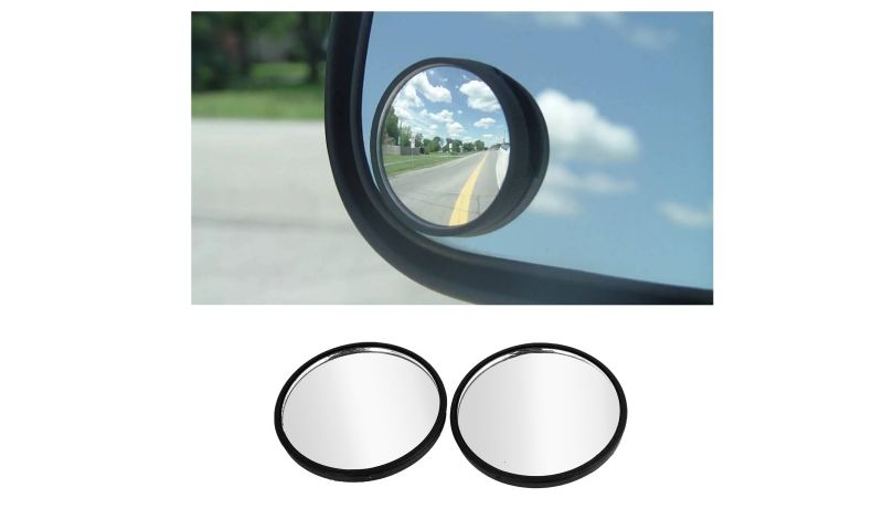 Buy Spidy Moto Car Conves Rearview Blind Spot Rear View Mirror Set Of 2 - Skoda Rapid online