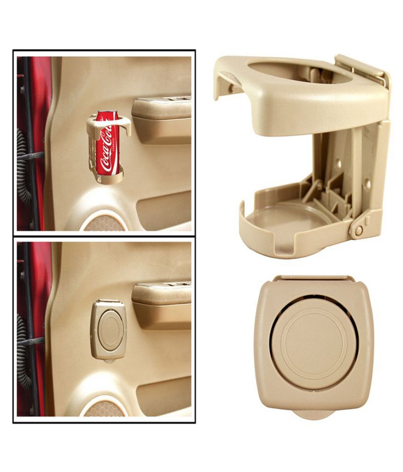 Buy Spidy Moto Beige Beverage Drink Cup Bottle Mount Holder Stand - Mahindra Quanto online