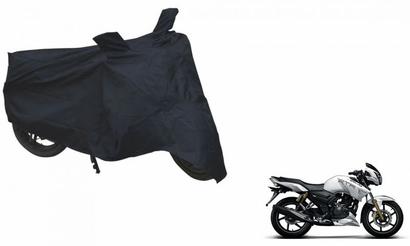 Spidy Moto Sporty Champion Bike Body Cover Water Proof Black - Tvs Apache  Rtr 180 Abs