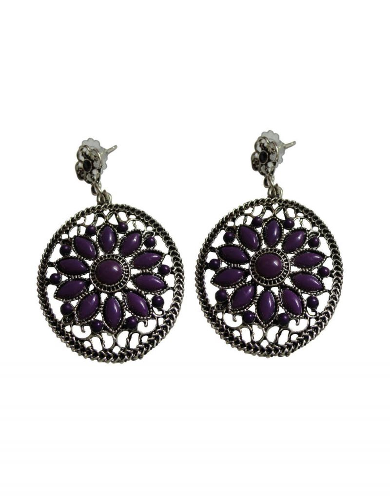 Buy Snoby Purple Earings online
