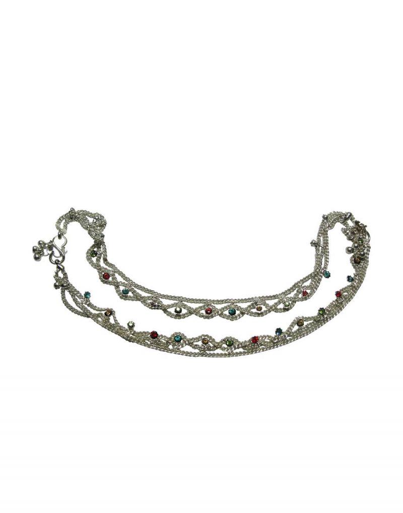 Buy Snoby White Metal Hanging Coloured Aklets Sbyrsj_020 online
