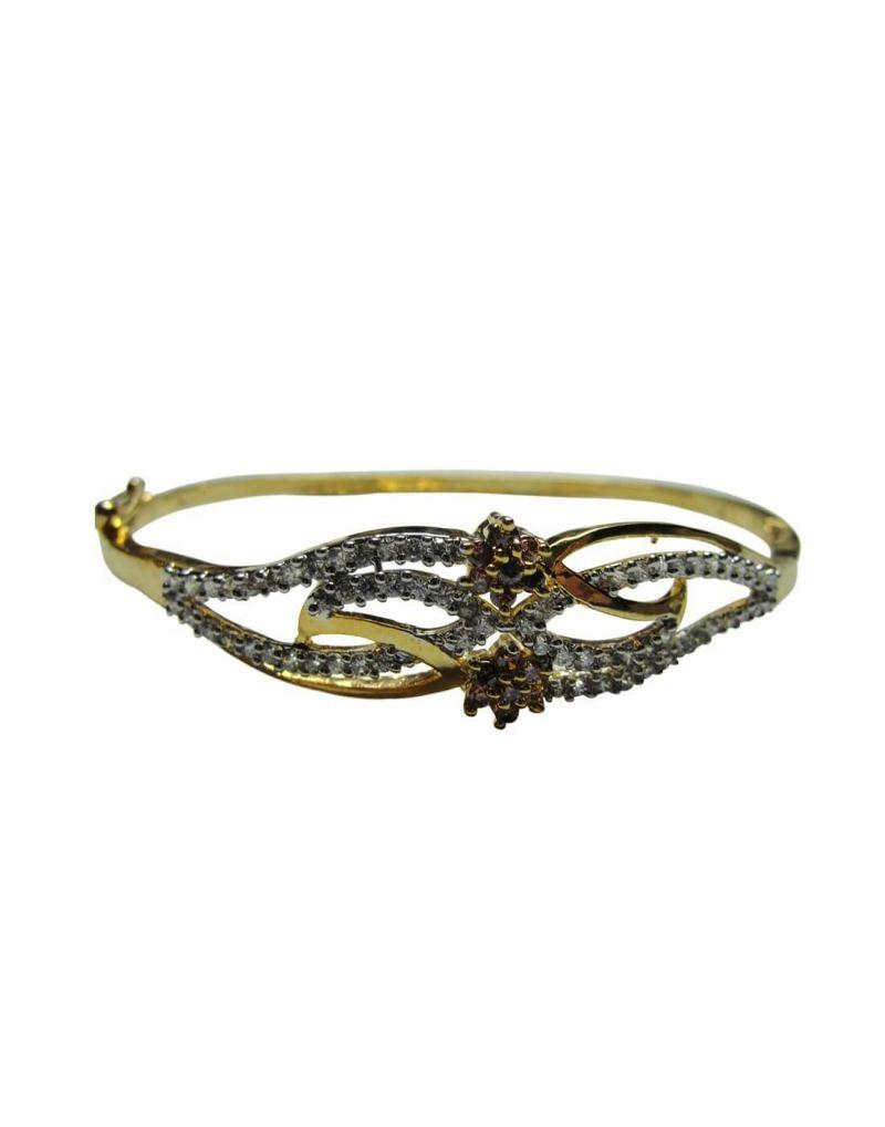 Buy Snoby American Diamond Purple Flower Bracelet Sbyrsj_023 online