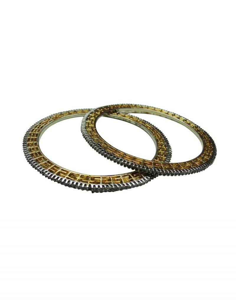 Buy Snoby American Diamond Gold Plated Bangles Sbyrsj_028 online