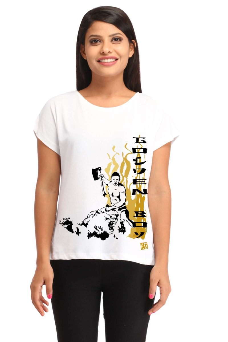 Buy Snoby Golden Boy Print T-Shirt online