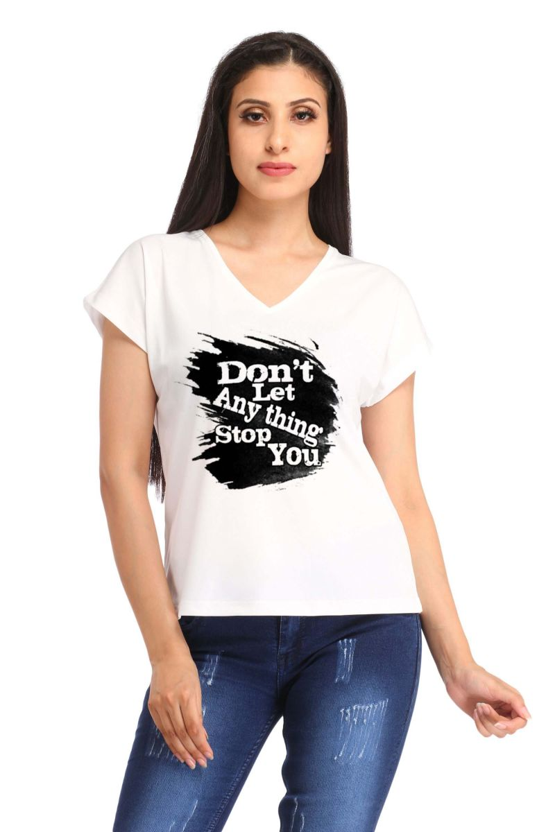 Buy Snoby Don,t Any Thing Stop You Print T Shirt (sbypt1425) online