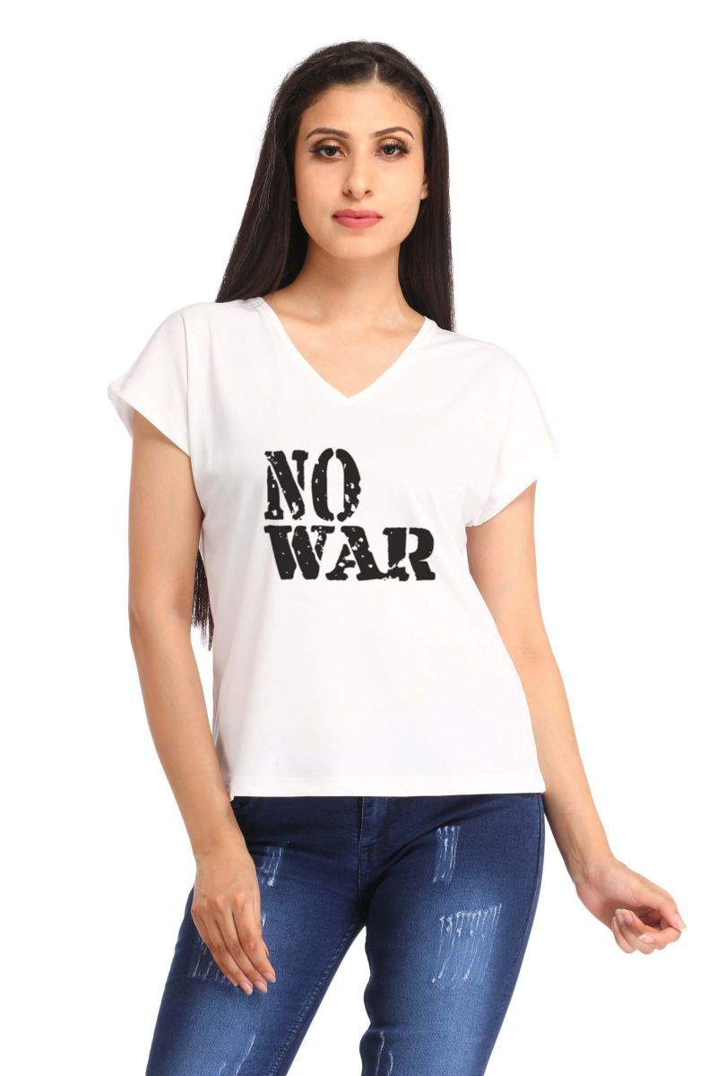 Buy Snoby No War Print T Shirt (sbypt1453) online