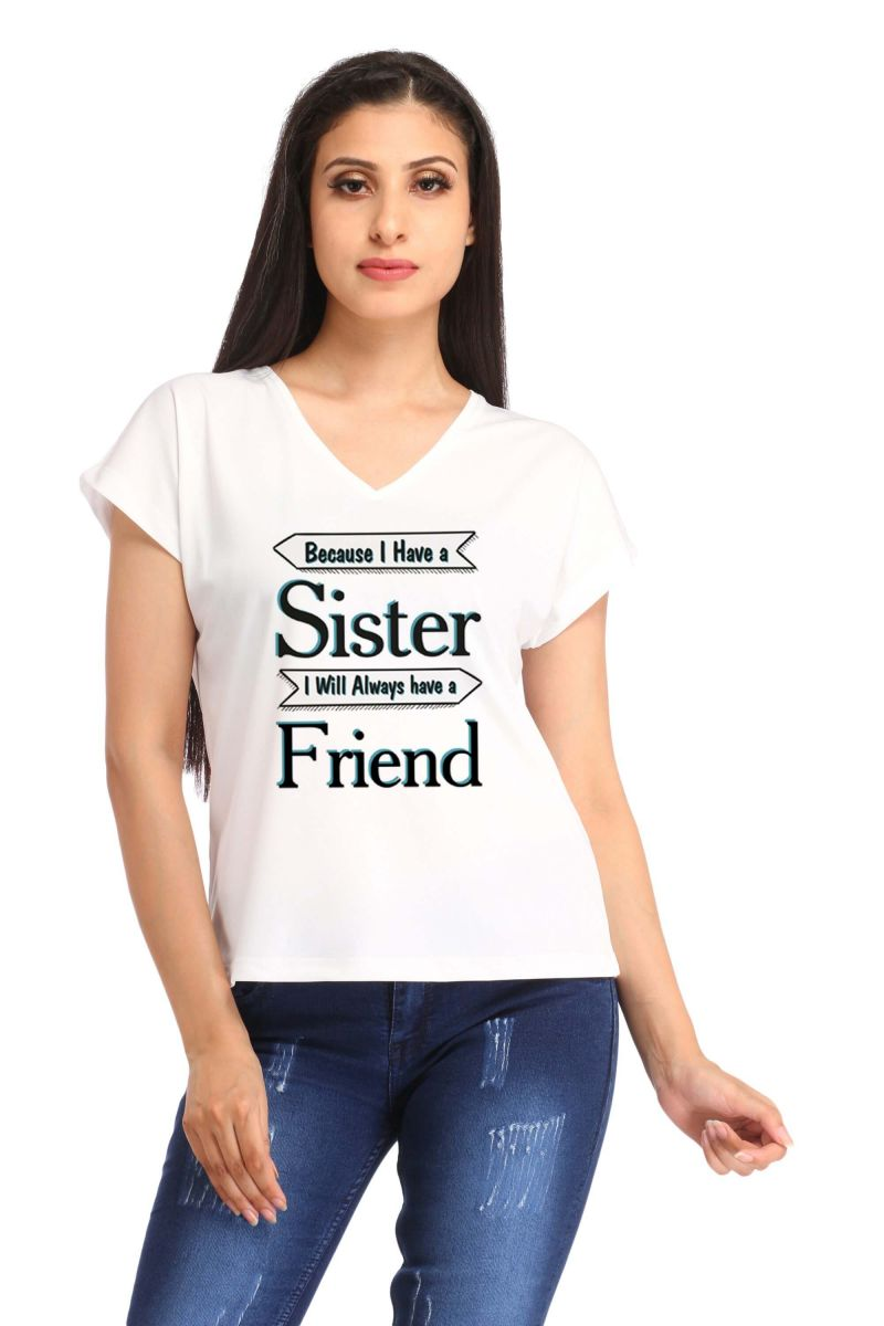Buy Snoby Sister And Friend Print T Shirt (sbypt1483) online