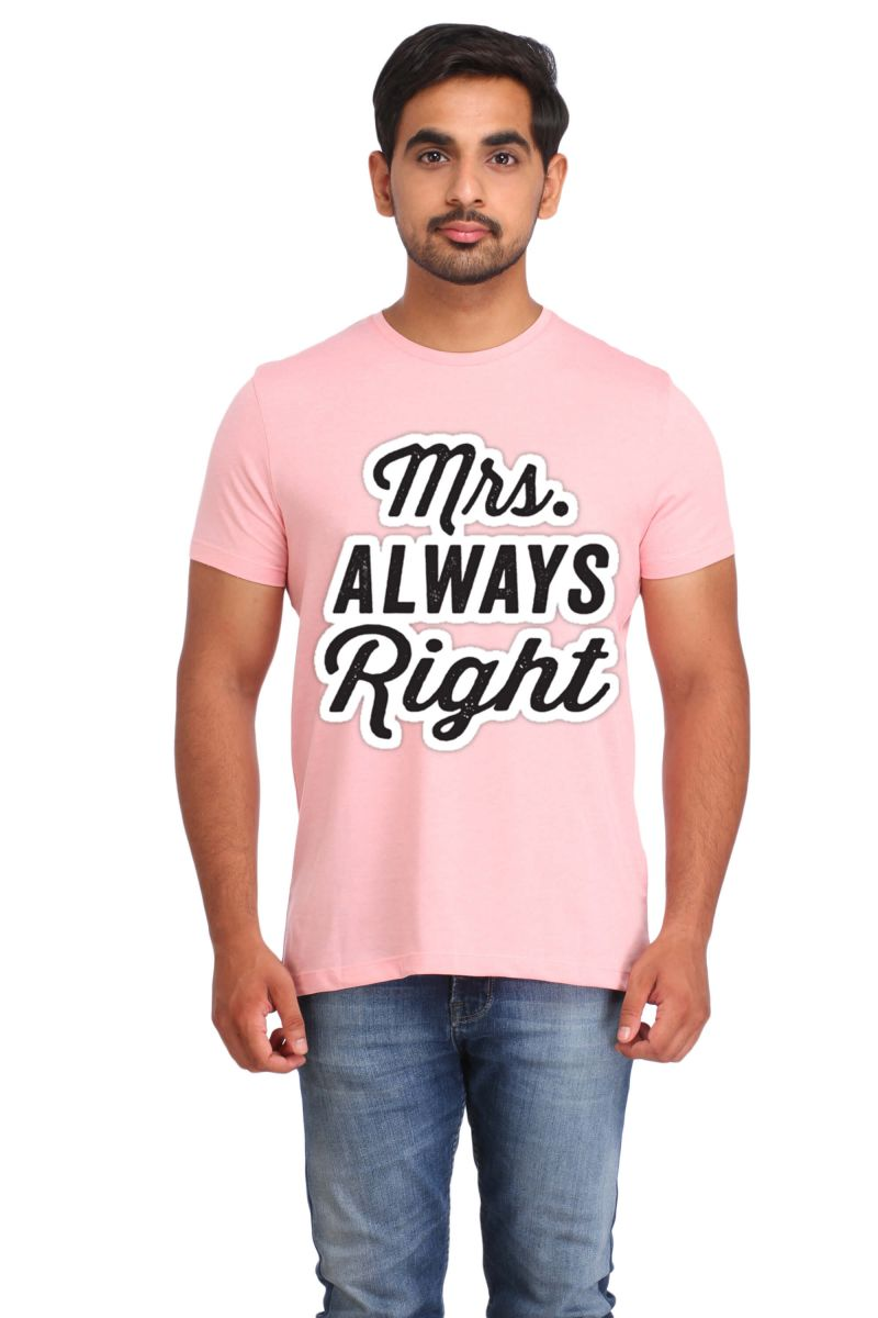 Buy Snoby Mrs Always Right Printed T-shirt (sby15423) online