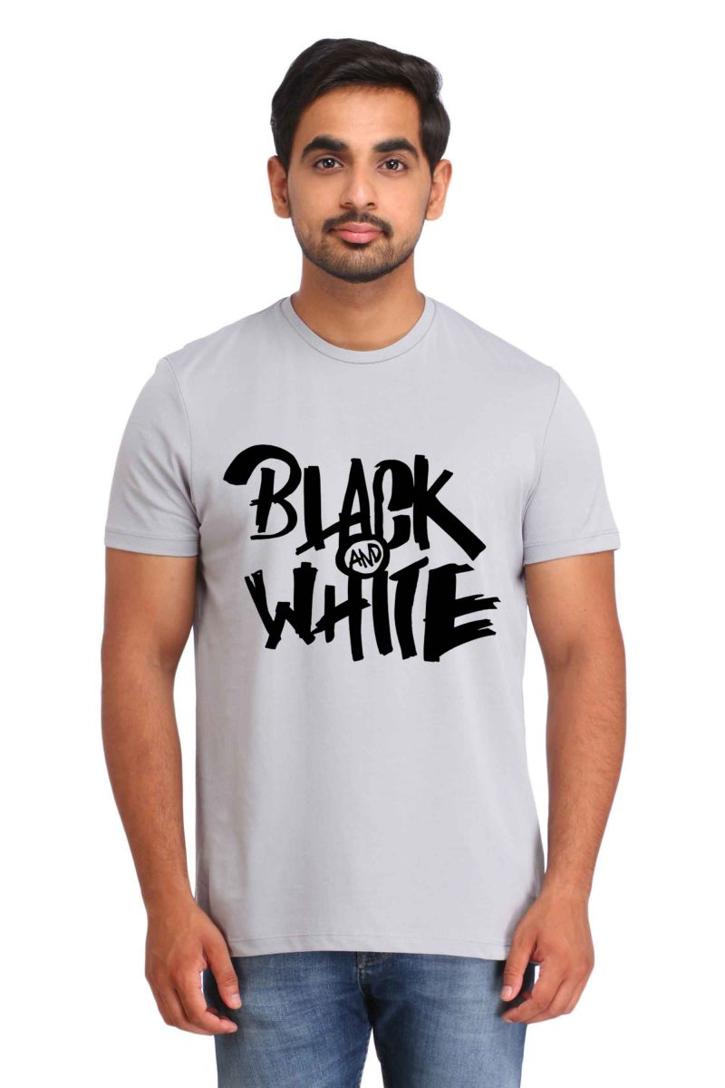 Buy Snoby Black & White Print T-shirt (sby17450) online