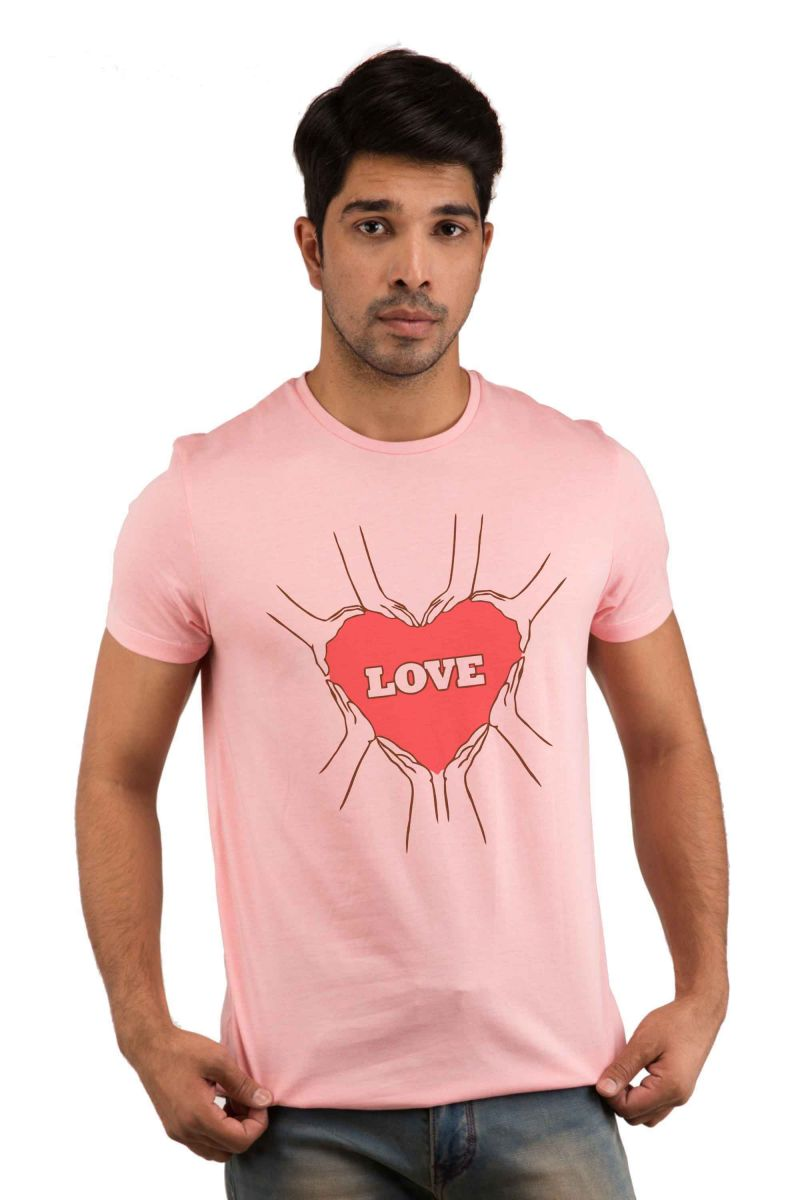 Buy Snoby Love With Heart Printed T-shirt(sby18000) online