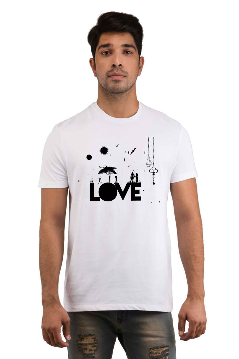 Buy Snoby Love Printed T-shirt(sby18008) online