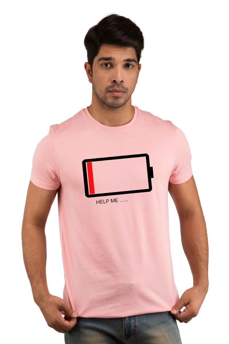 Buy Snoby Battery Printed T-shirt(sby18028) online