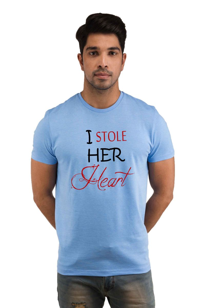 Buy Snoby Stealing Her Heart Printed T-shirt(sby18051) online