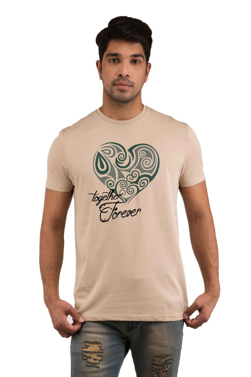 Buy Snoby Together Forever Printed T-shirt(sby18082) online