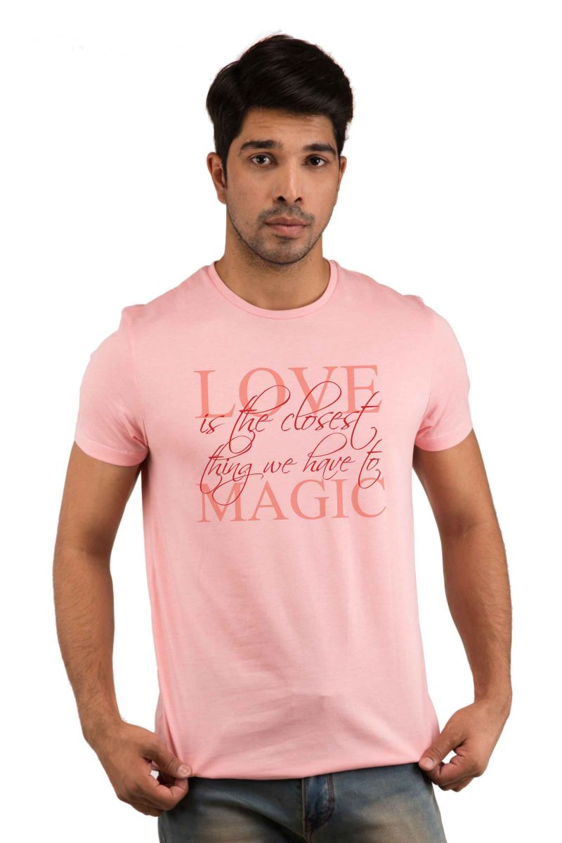 Buy Snoby Love Magic Printed T-shirt(sby18133) online