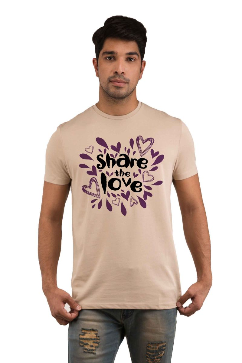 Buy Snoby Share the lovePrinted T-shirt online