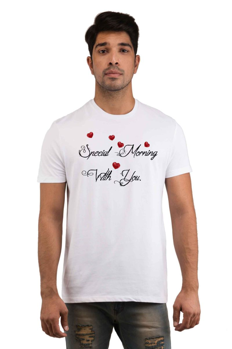 Buy Snoby Special Morning with you Printed T-shirt online