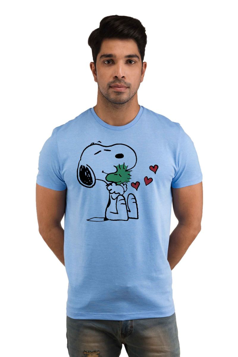 Buy Snoby Special Morning With You Printed T-shirt(sby18205) online