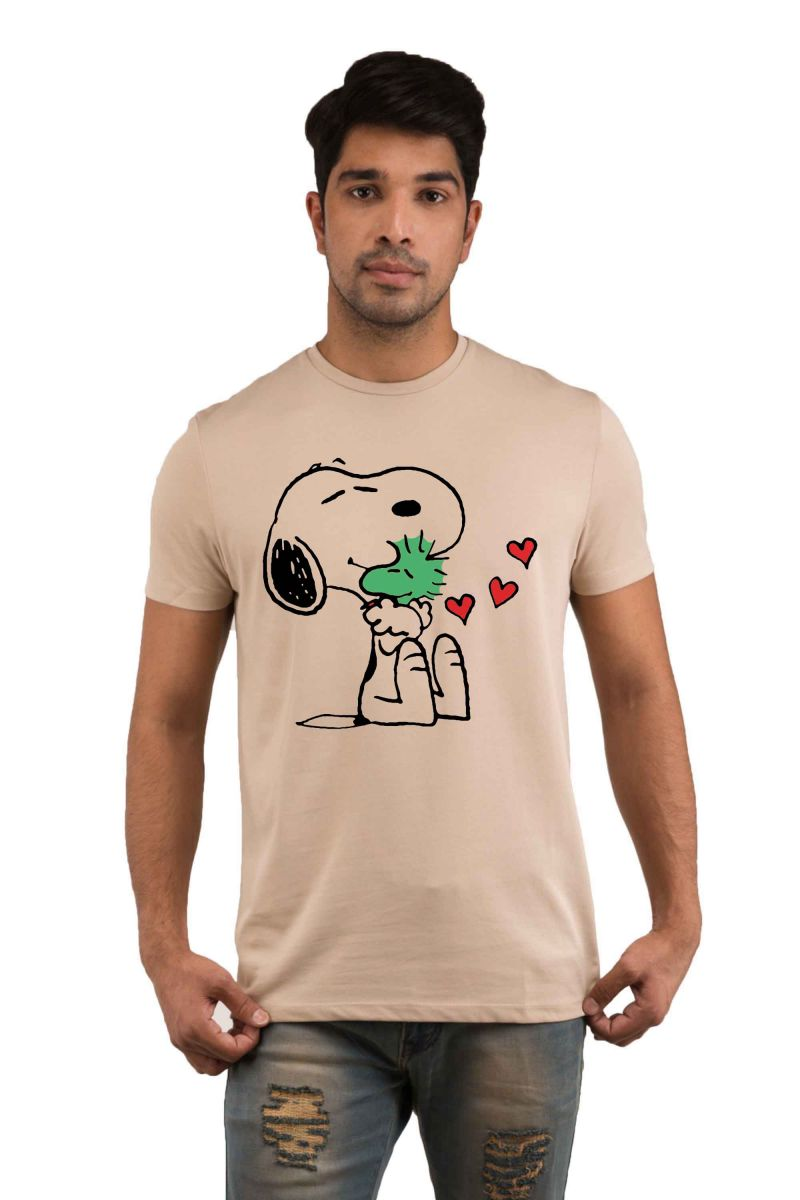 Buy Snoby Puppy Morning Printed T-shirt(sby18208) online