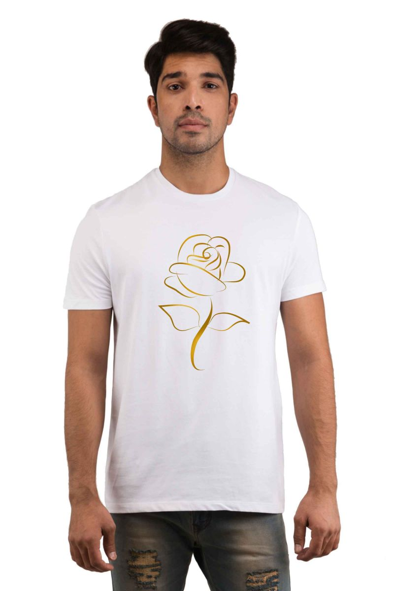 Buy Snoby Golden Rose Printed T-shirts (sby18239) online